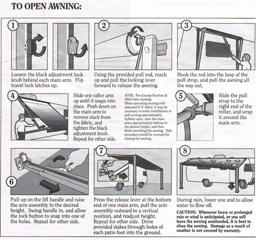 Roll Out Awning Instruction